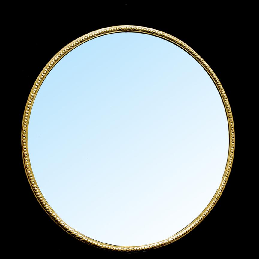 Large Circular Mirror Frame